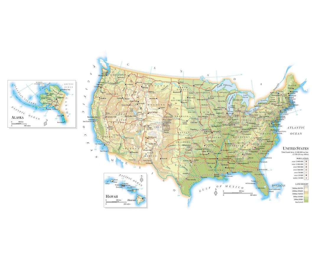 Maps of the USA | Collection of maps of the United States of America ...