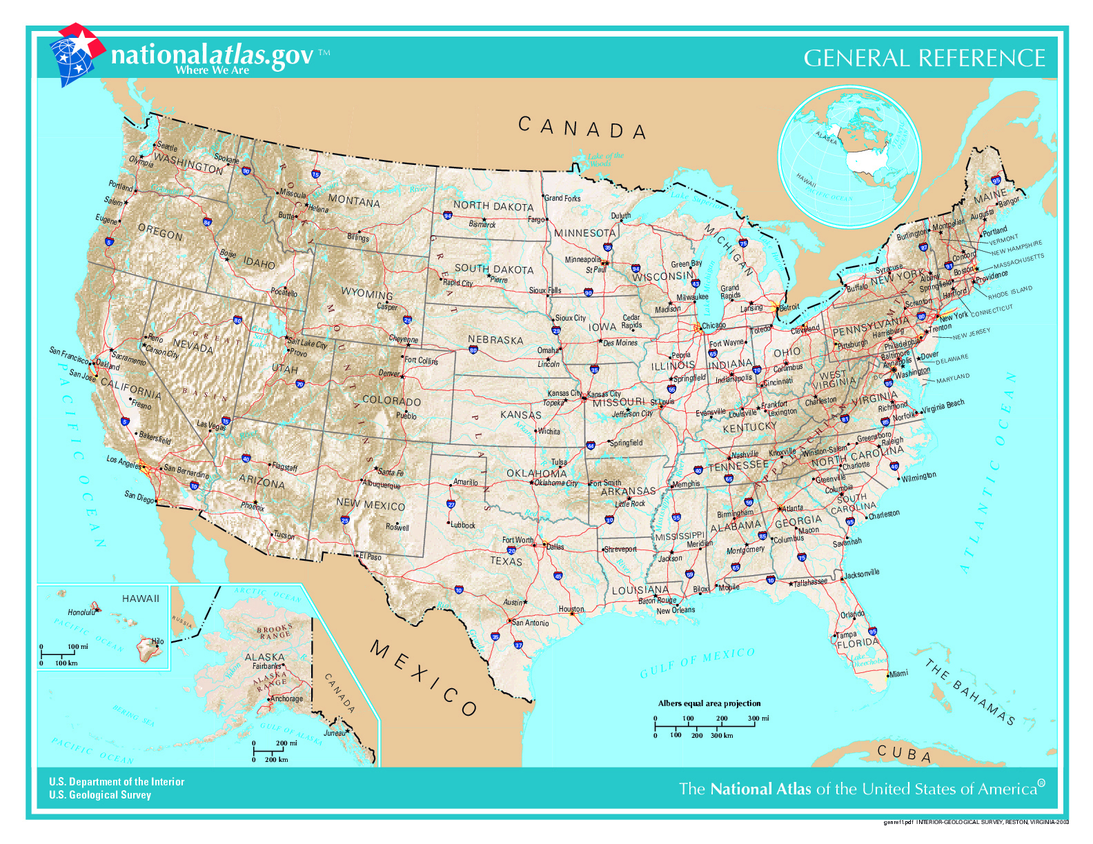Www Map Of The United States.Large General Reference Map Of The Usa Usa Maps Of The Usa