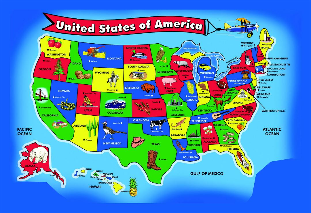 Large kids map of the USA | USA | Maps of the USA | Maps collection on weather for california, brochure for california, region for california, map the world, postal code for california, map virginia, flag for california, grid for california, map district of columbia, map wisconsin, population density for california, water for california, resources for california, zip code for california, address for california, introduction for california, area code for california, climate for california, longitude for california, map new jersey,