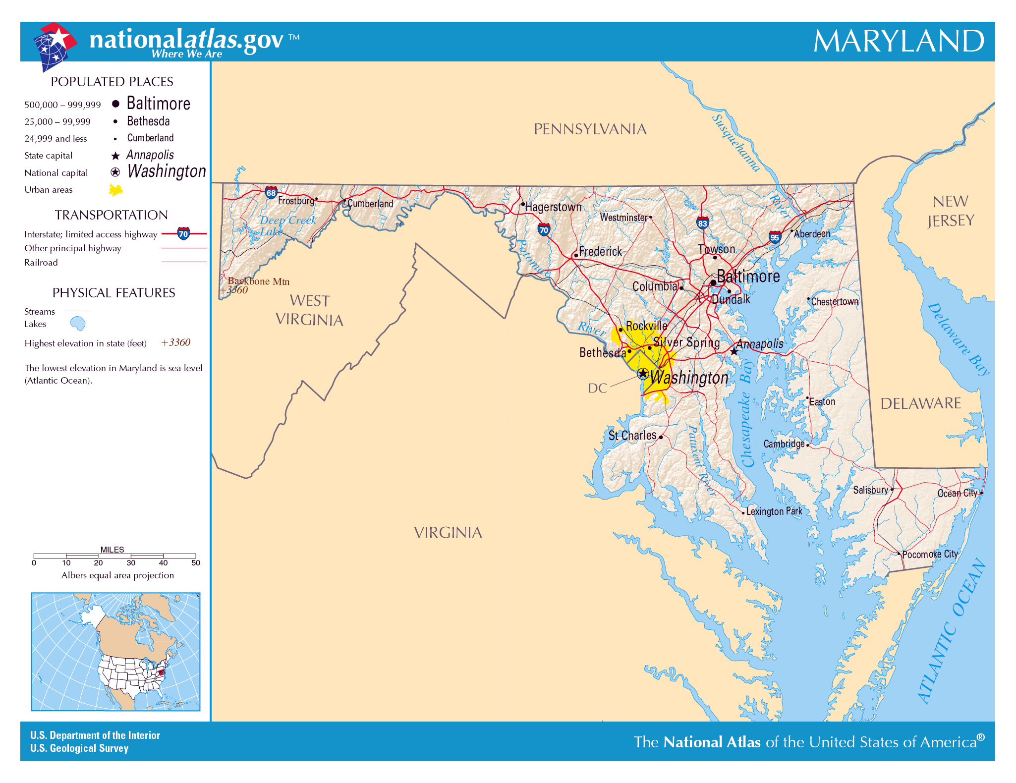 usa cities map with Large Detailed Map Of Maryland State on Faro in addition Location Map Of Jackson Parish Louisiana Grayscale furthermore Detailed Tourist Illustrated Map Of Pennsylvania State as well Antananarivo besides Nevada.
