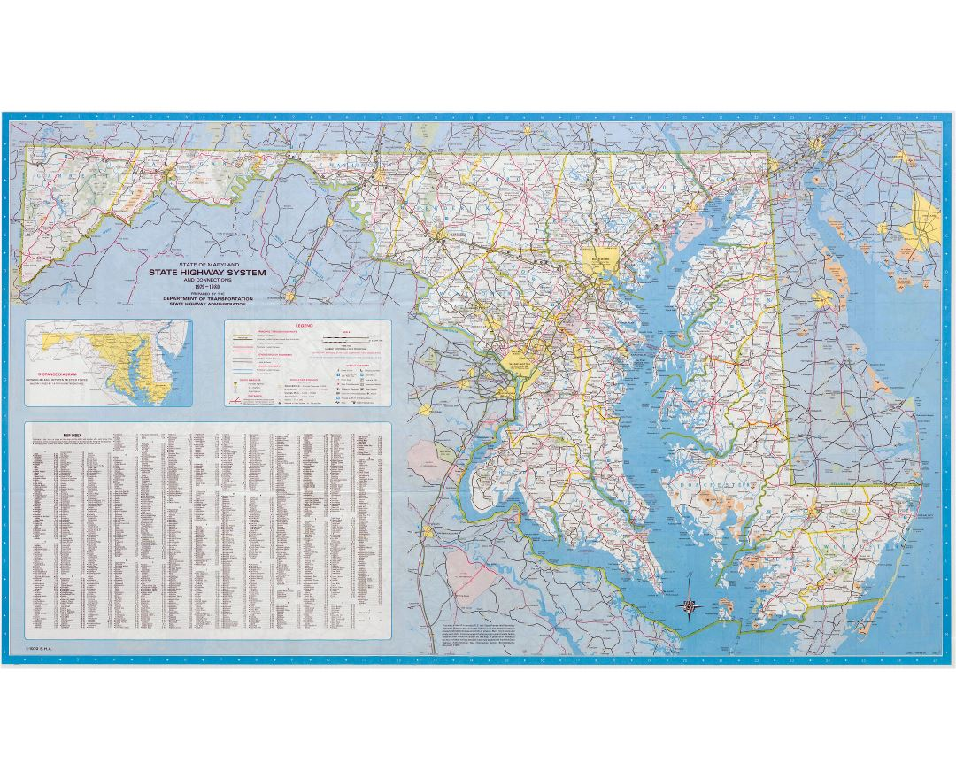 Usa Map To Scale Google Images Large Scale Tourist Illustrated - Map of maryland usa