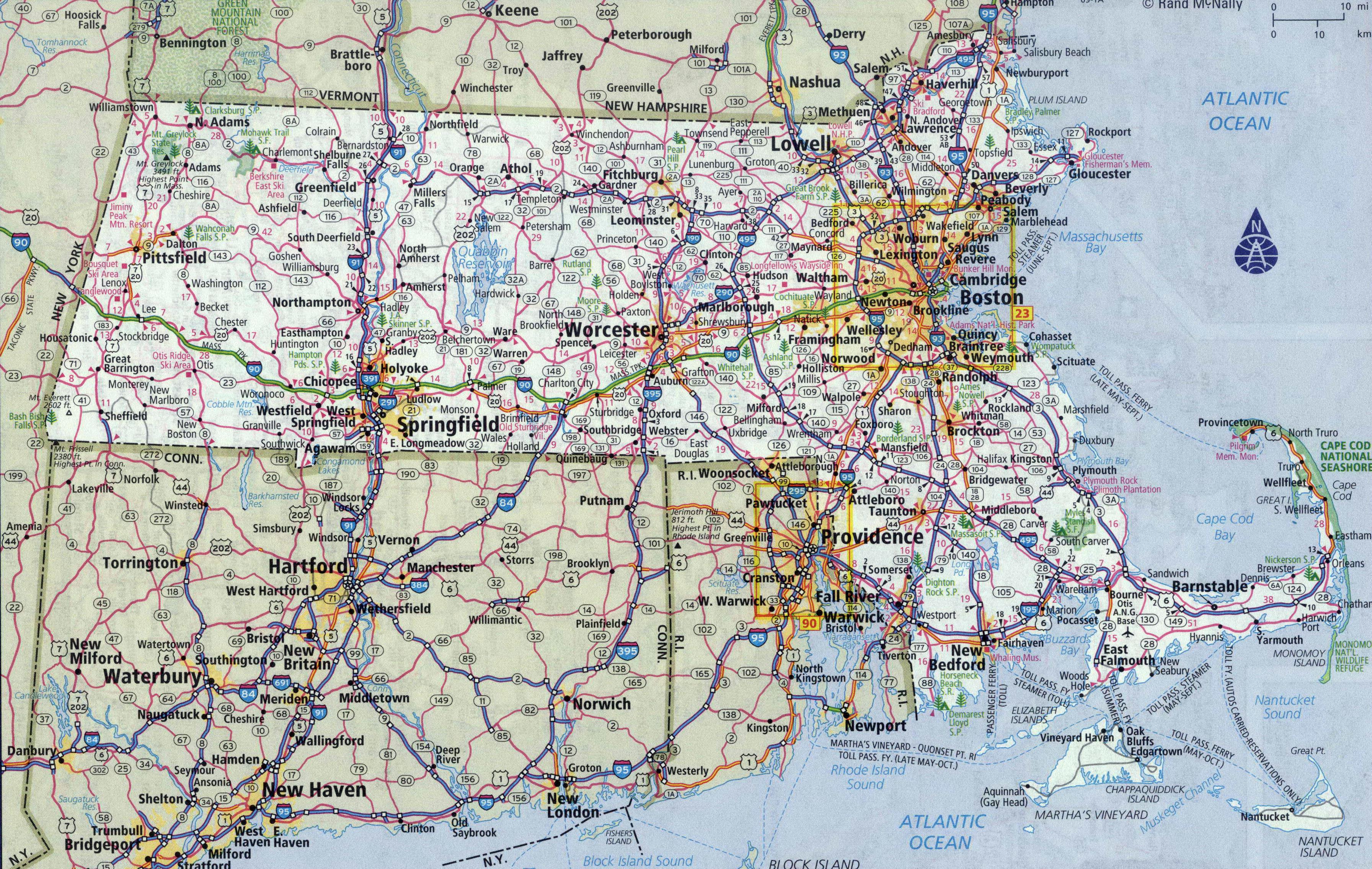 road maps of massachusetts