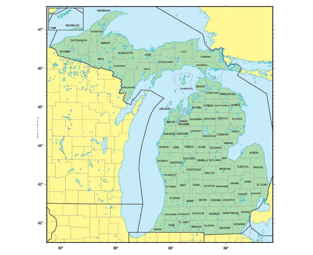 Maps Of Michigan State Collection Of Detailed Maps Of Michigan - Michigan state usa map