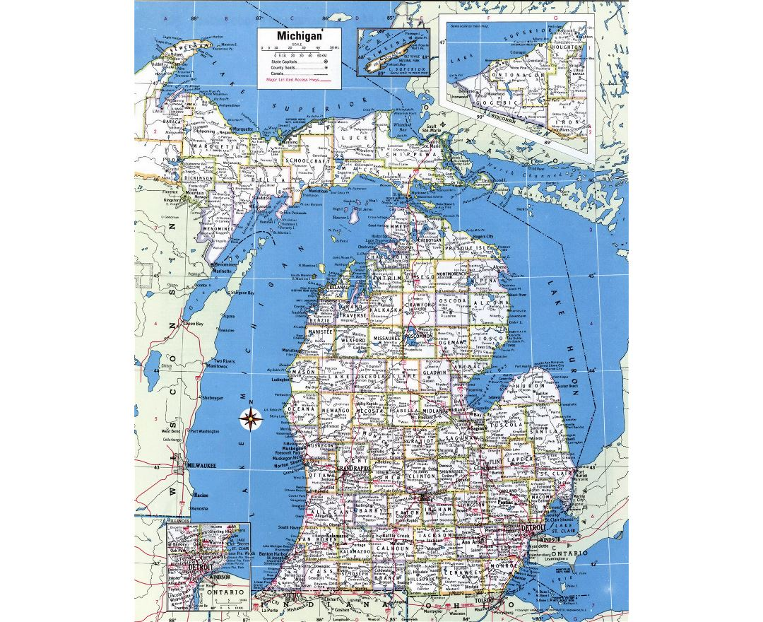 Map Of State Of Michigan With Its Cities Towns And Counties Been - Map of the state of michigan