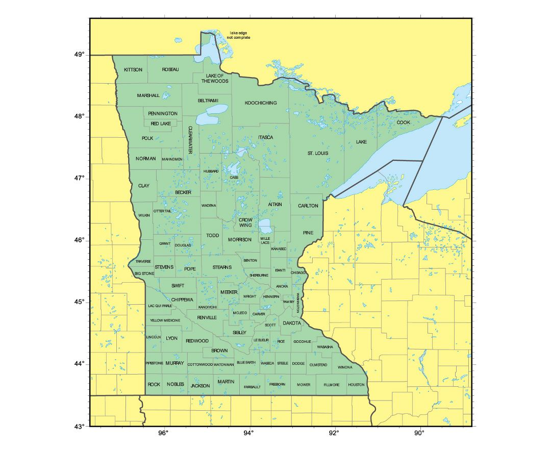 Maps Of Minnesota State Collection Of Detailed Maps Of Minnesota - Minnesota map usa