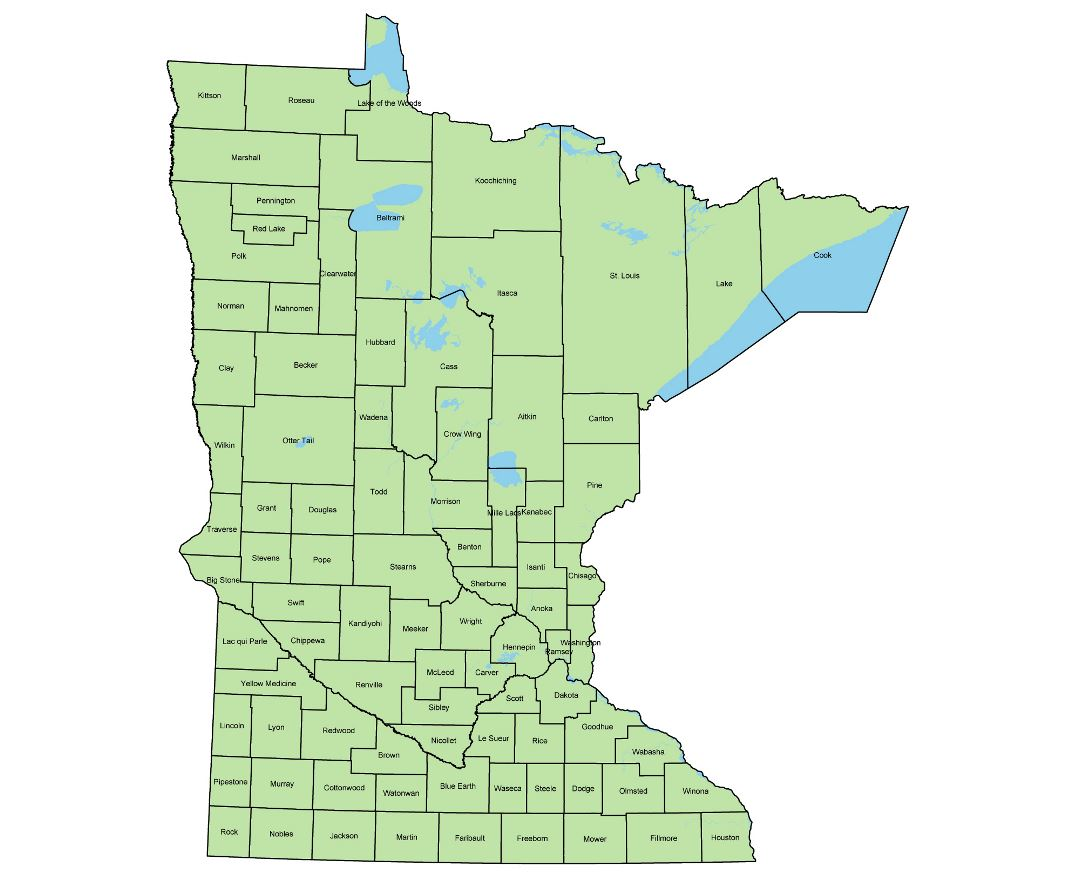 Maps Of Minnesota State Collection Of Detailed Maps Of Minnesota - Map of minnisota