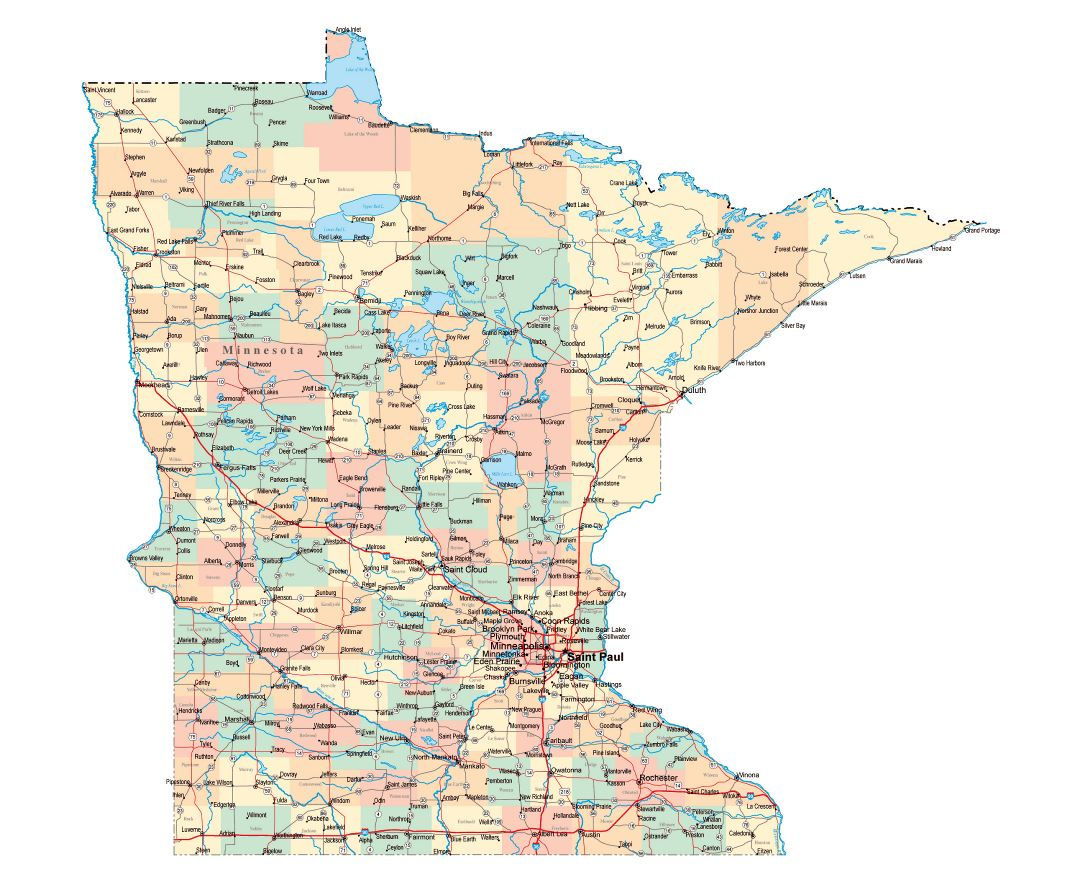 Maps Of Minnesota State Collection Of Detailed Maps Of Minnesota - Map of minnesota cities