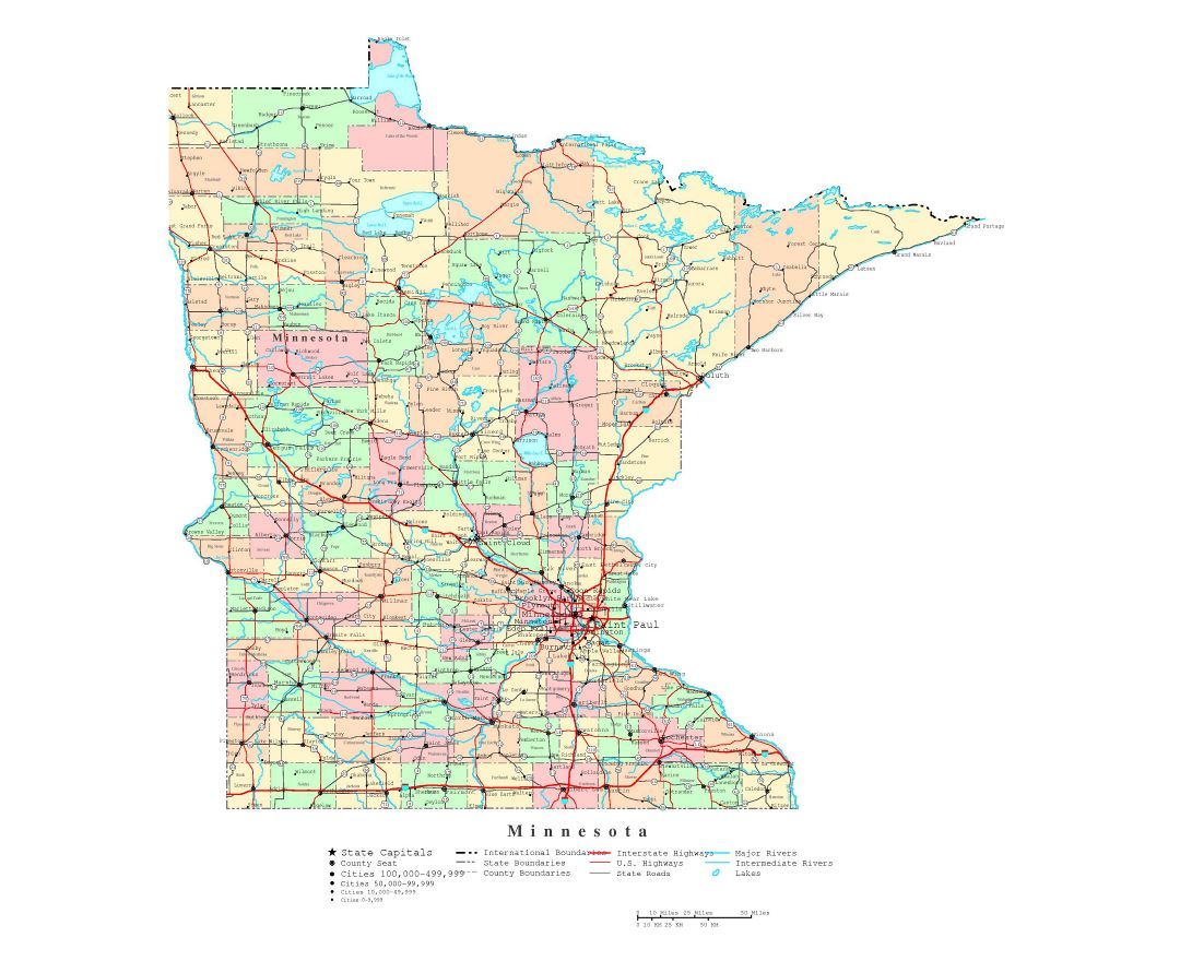 Maps Of Minnesota State Collection Of Detailed Maps Of Minnesota - Road map of minnesota