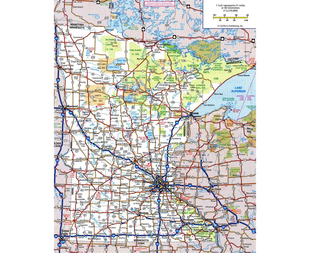 Maps Of Minnesota State Collection Of Detailed Maps Of Minnesota - Minnesota maps