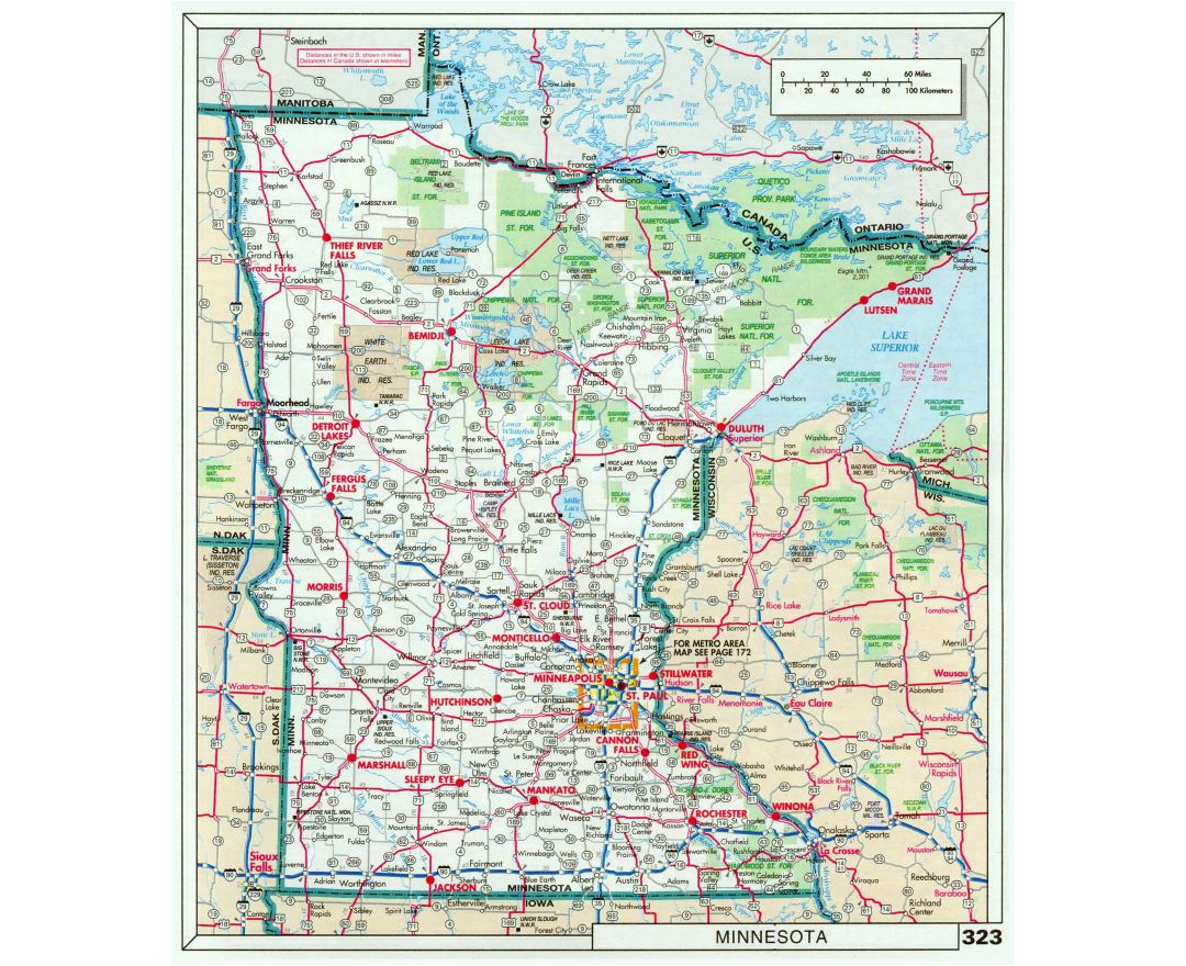 Maps Of Minnesota State Collection Of Detailed Maps Of Minnesota - State of minnesota map