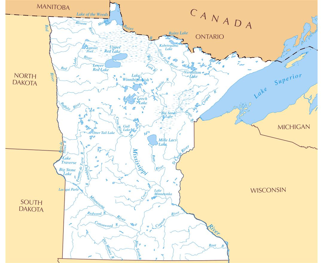 USA Rivers Map Rivers Map Of USA Rivers USA Map United US River - Map of us rivers and mountains
