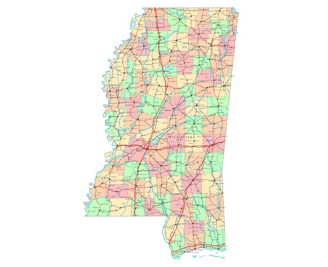 Maps of Mississippi | Collection of maps of Mississippi state | USA ...