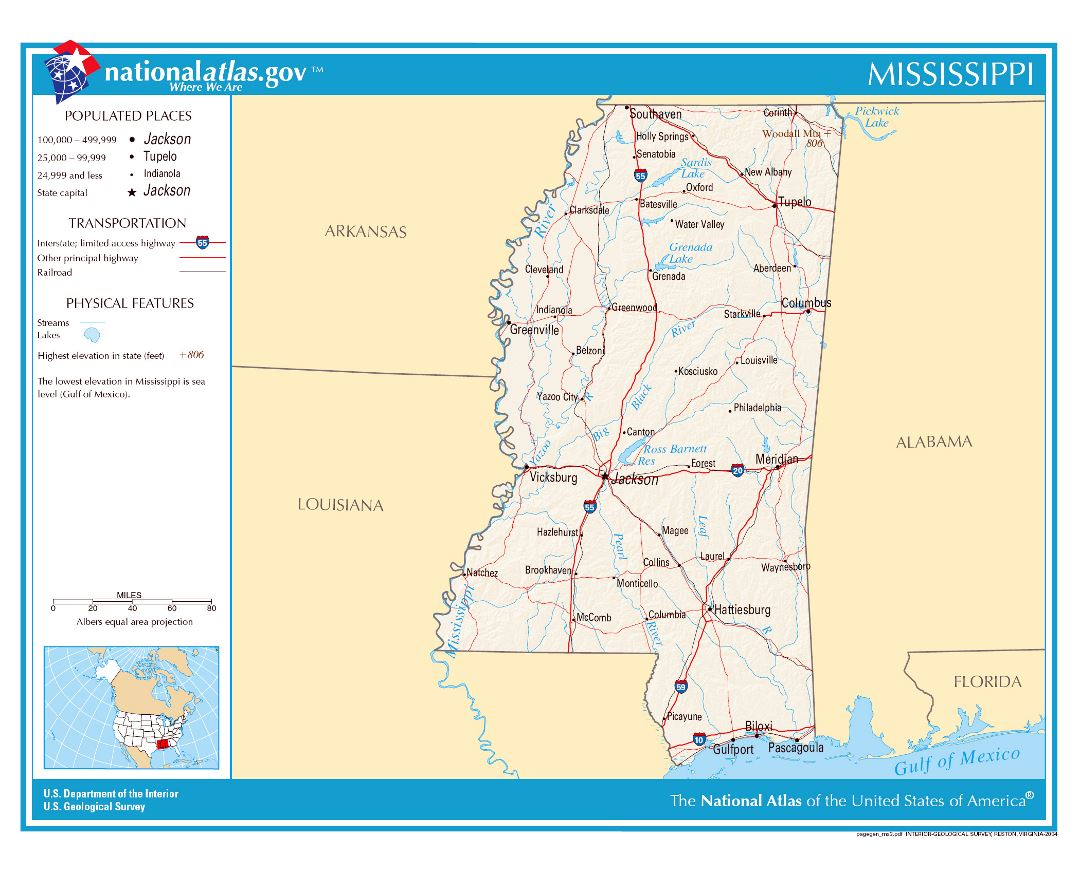 Maps of Mississippi state Collection of detailed maps of