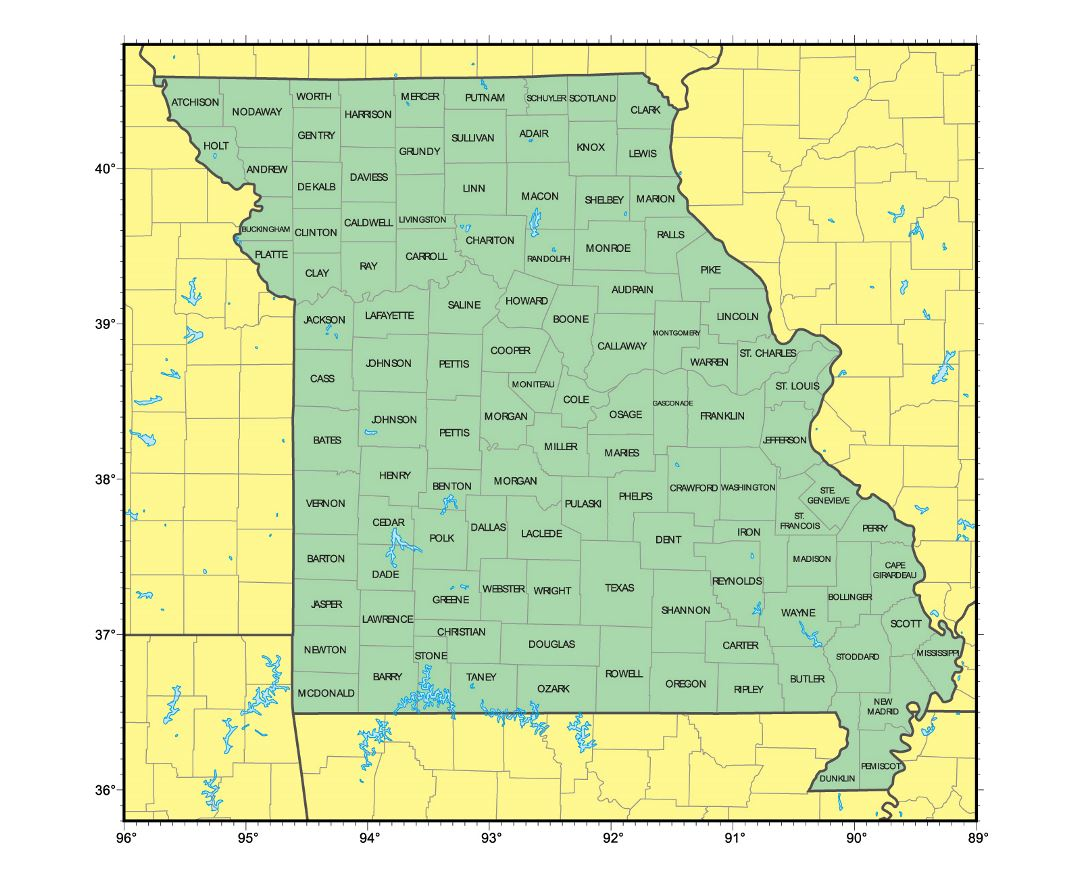 Maps Of Missouri State Collection Of Detailed Maps Of Missouri - Missouri on map of usa