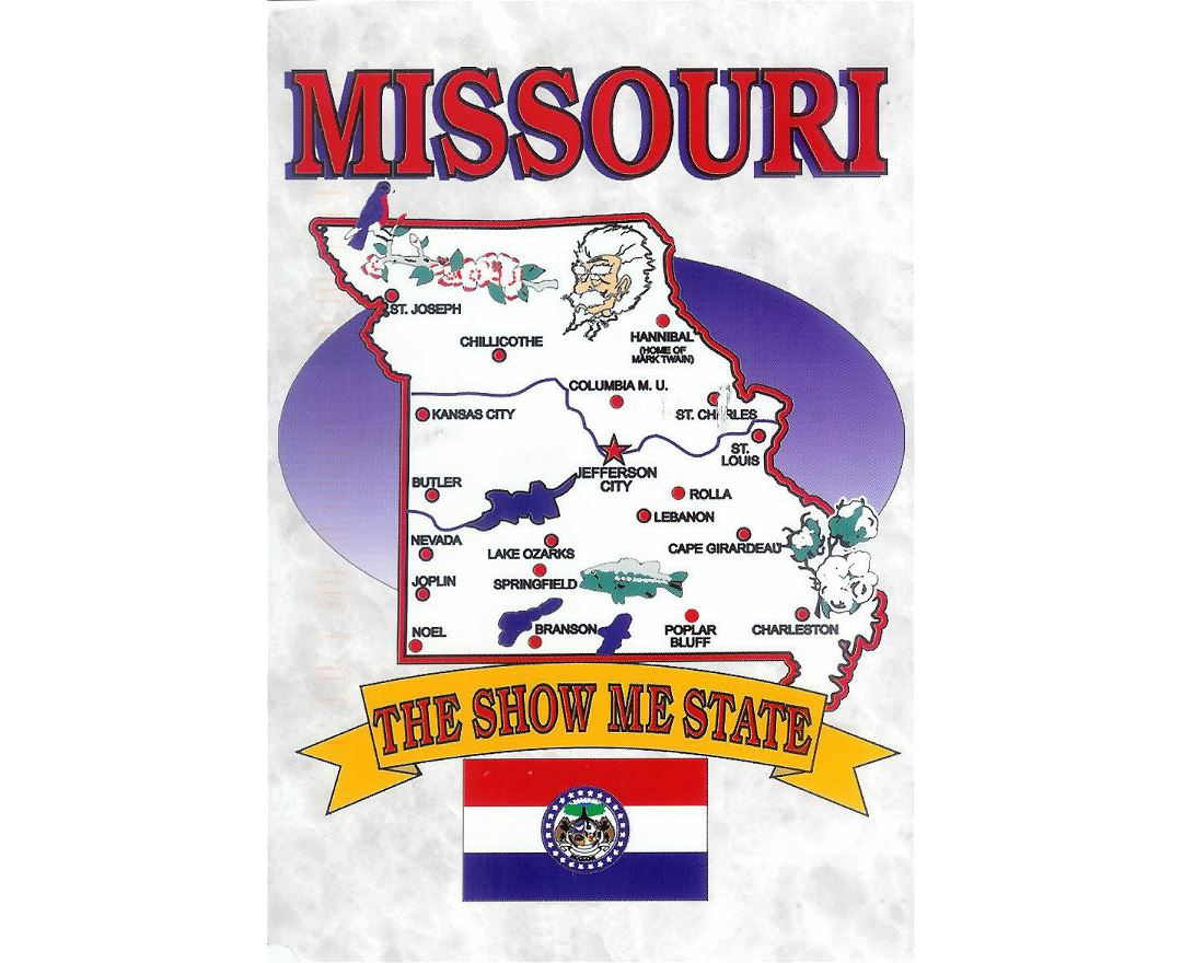 Missouri State Map World Map - Missouri on map of usa