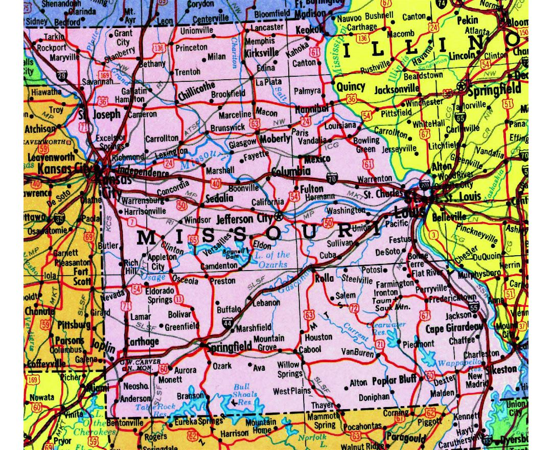 Maps Of Missouri Collection Of Maps Of Missouri State