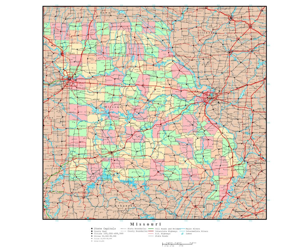 Maps Of Missouri State Collection Of Detailed Maps Of Missouri - Missouri road map