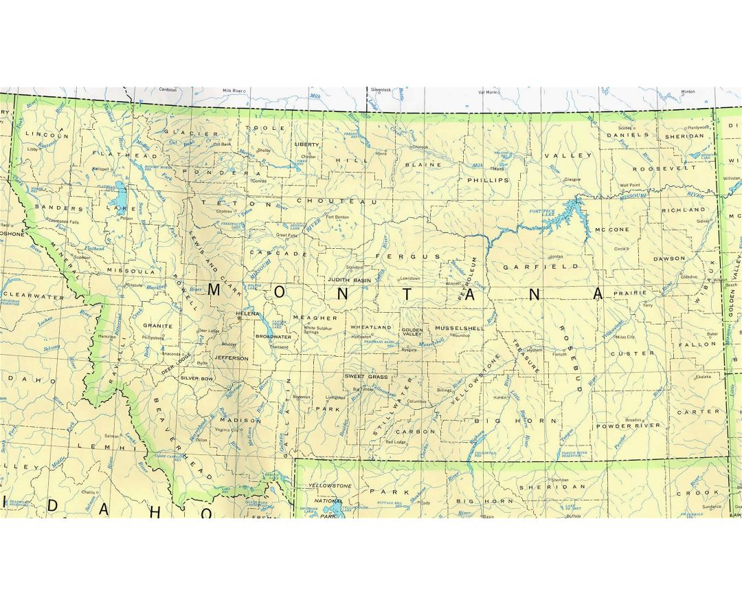Maps Of Montana State Collection Of Detailed Maps Of Montana - Montana state usa map