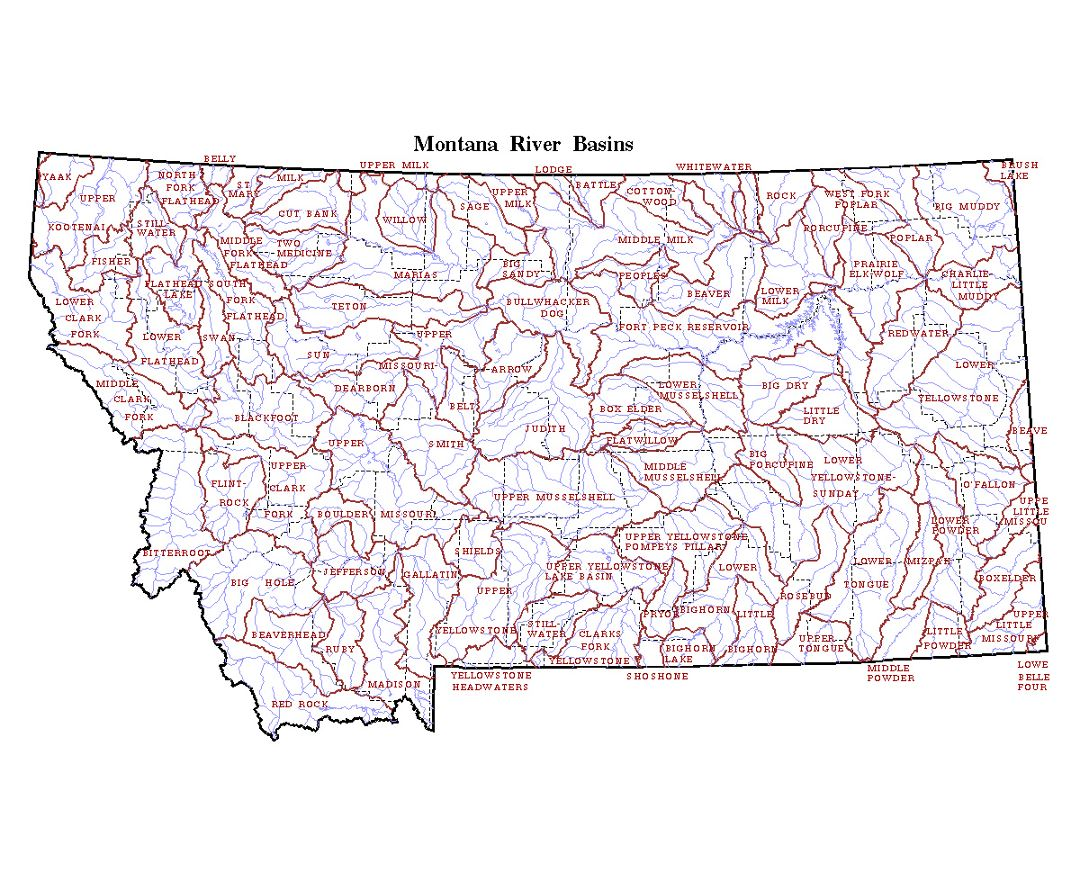 Maps of Montana | Collection of maps of Montana state | USA | Maps Detailed Map Of Montana on