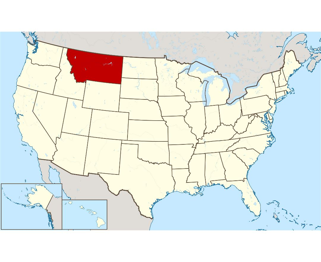 Large location map of Montana state
