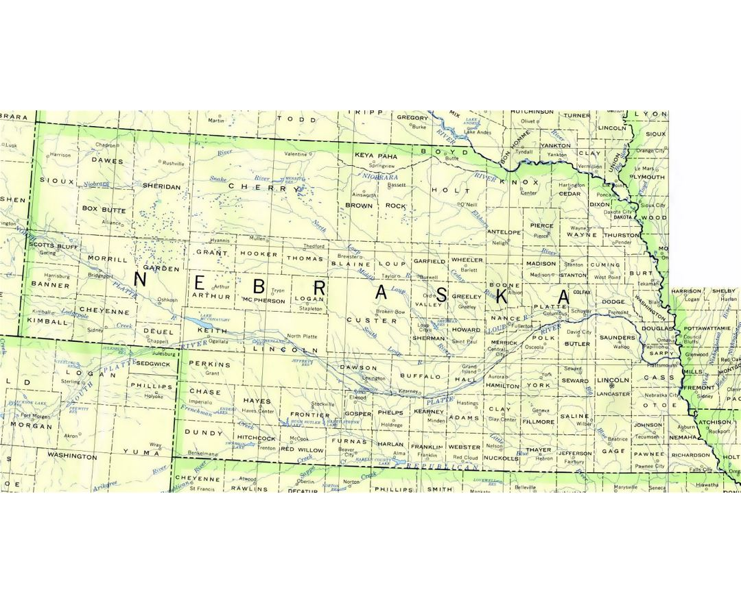 Maps Of Nebraska State Collection Of Detailed Maps Of Nebraska - Usa map nebraska