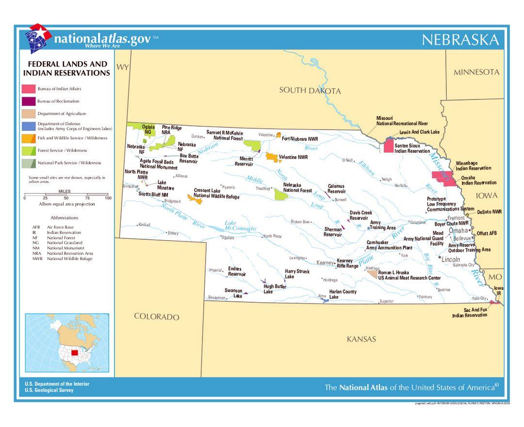 Maps of Nebraska state | Collection of detailed maps of Nebraska ...