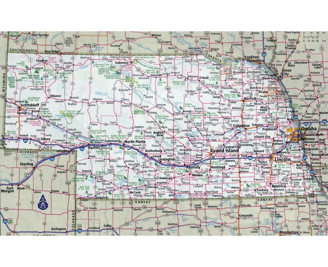 Maps Of Nebraska State  Collection Of Detailed Maps Of