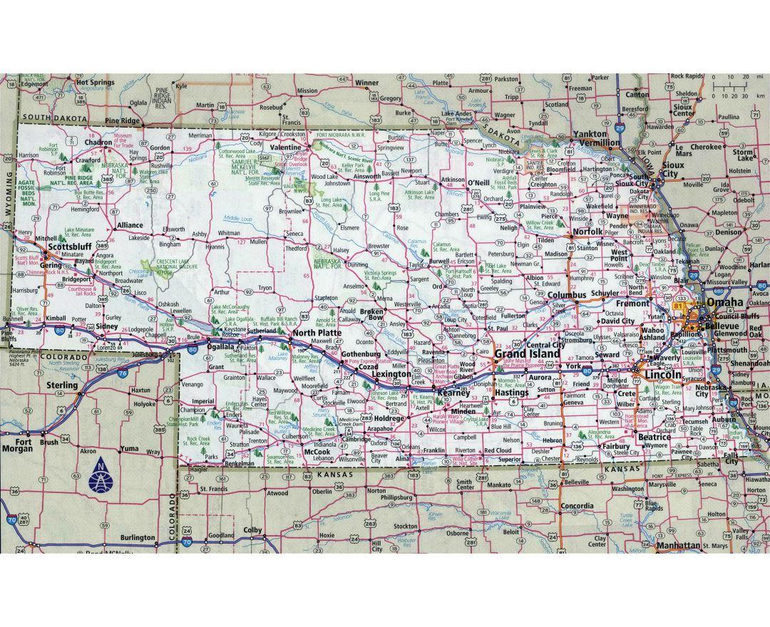 Maps of Nebraska state Collection of detailed maps of Nebraska