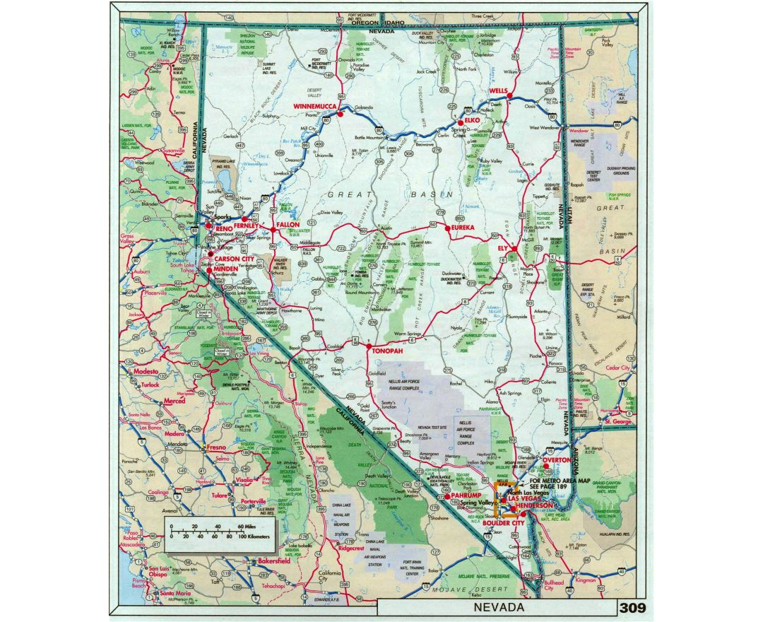 Maps of Nevada state Collection of detailed maps of Nevada state