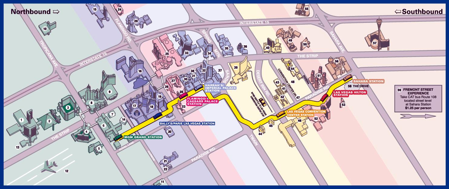 Detailed Las Vegas City Strip Map Las Vegas Nevada State USA - The strip map las vegas nv