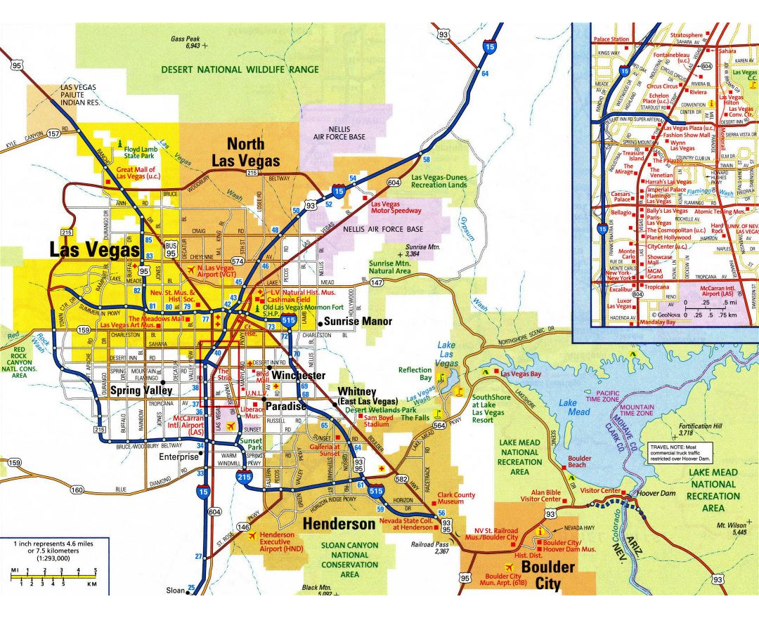 Maps of Las Vegas Detailed map of Las Vegas city Tourist map