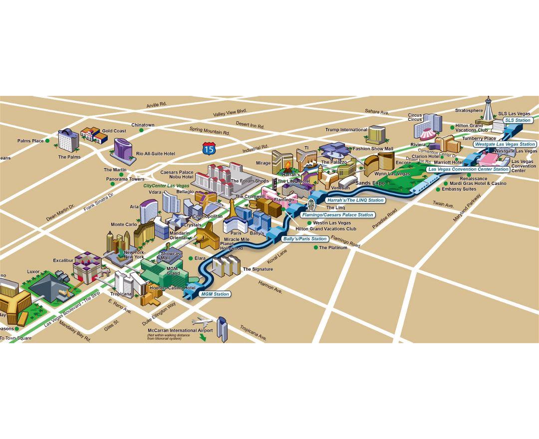 Maps of Las Vegas | Detailed map of Las Vegas city | Tourist map ...