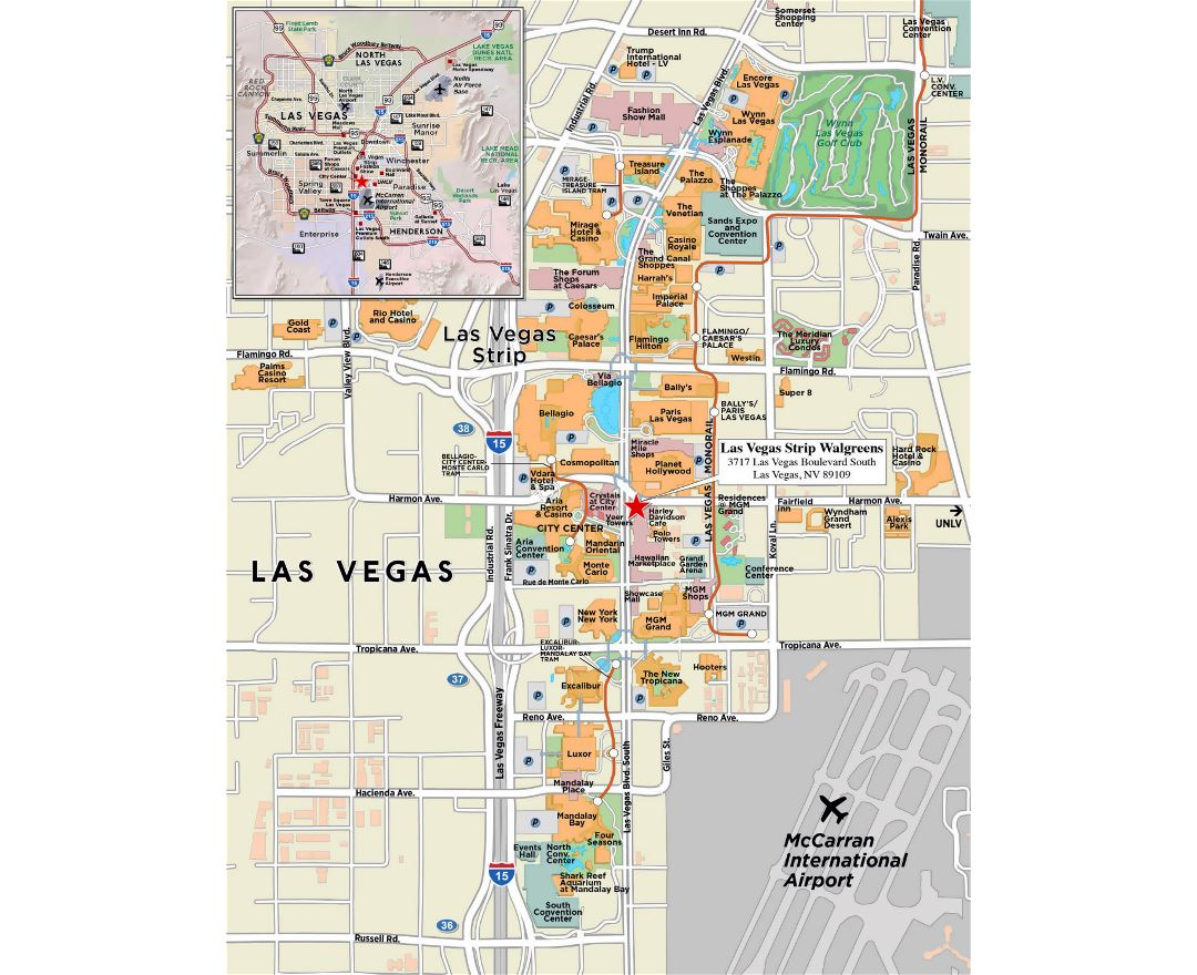 Maps of Las Vegas | Collection of maps of Las Vegas city | Nevada ...