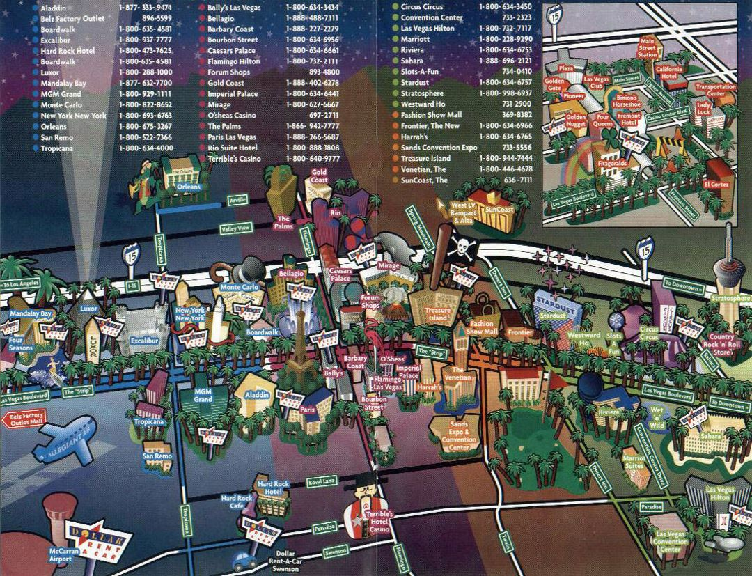 Las Vegas city tourist map
