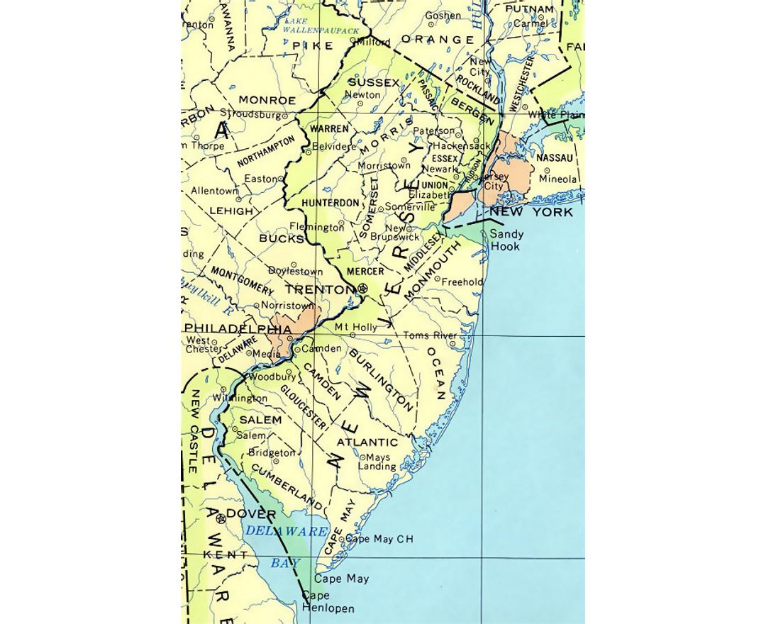 Maps Of New Jersey State Collection Of Detailed Maps Of New - New jersey on a map of the usa