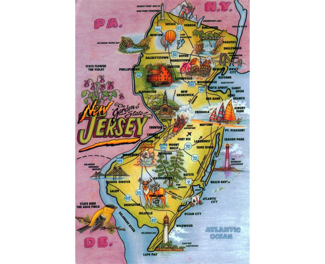 Maps Of New Jersey State Collection Of Detailed Maps Of New - Detailed map of nj