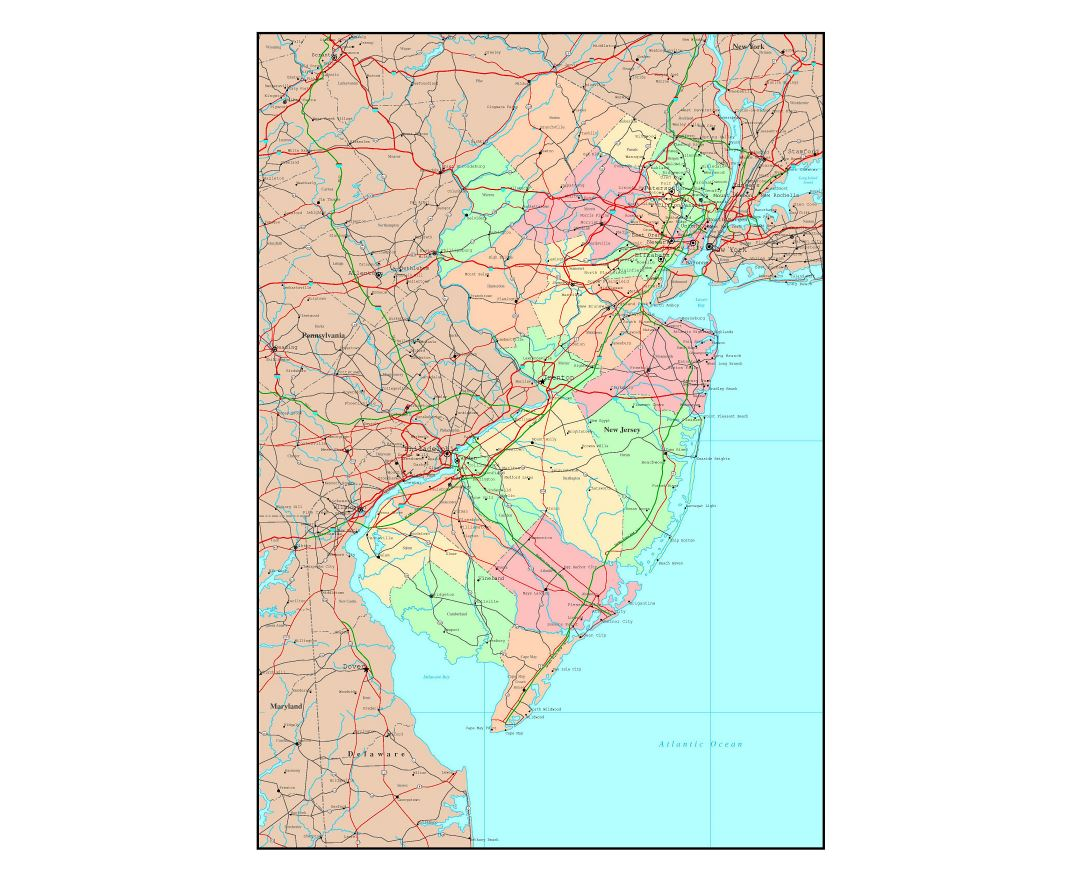 Maps Of New Jersey State Collection Of Detailed Maps Of New - Nj road map