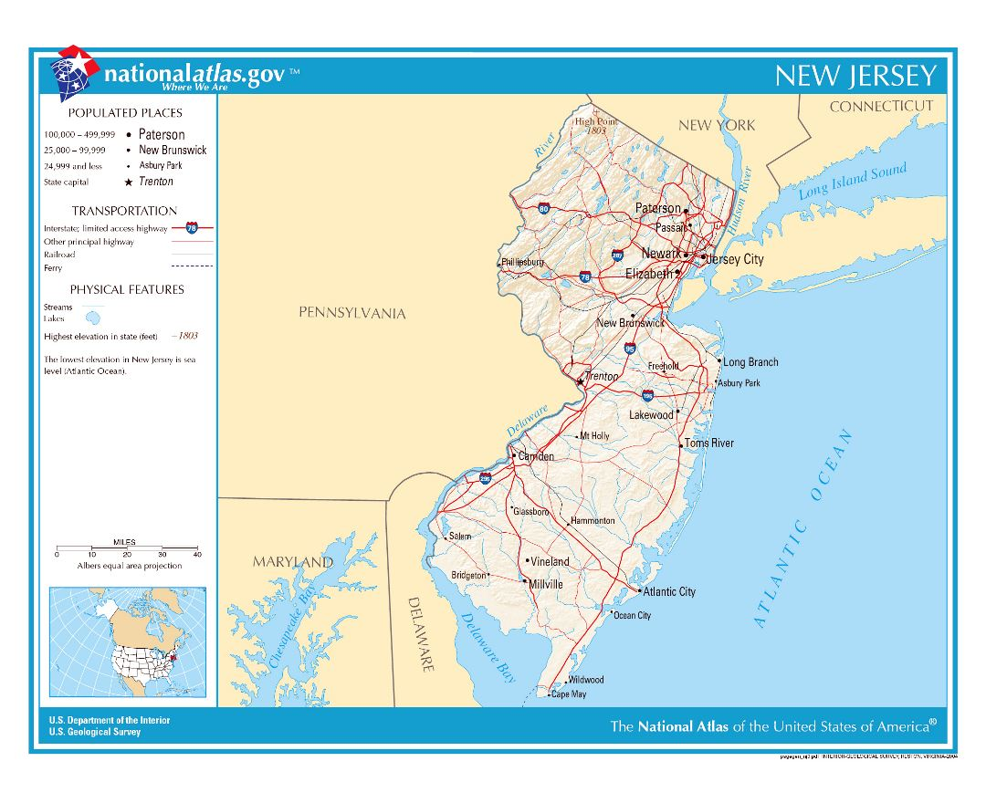 Maps of New Jersey state Collection of detailed maps of New Jersey