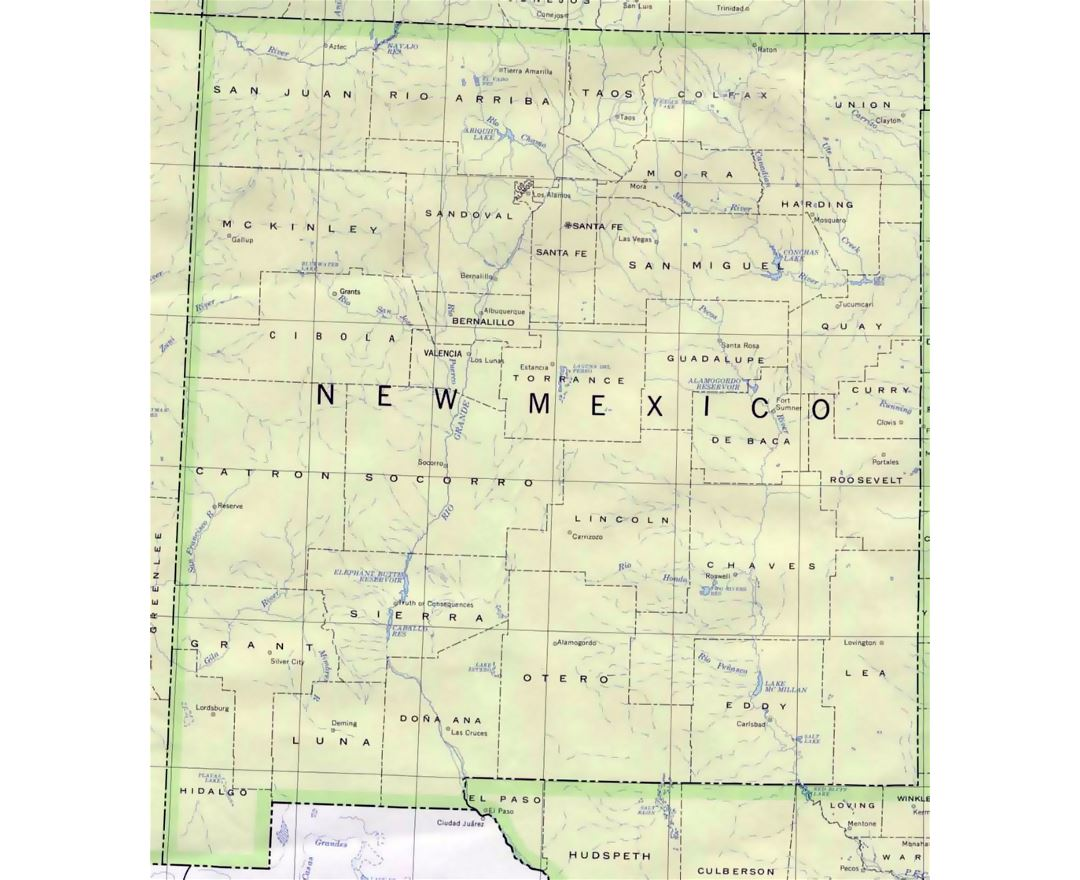 Maps Of New Mexico State Collection Of Detailed Maps Of New - Map of usa new mexico