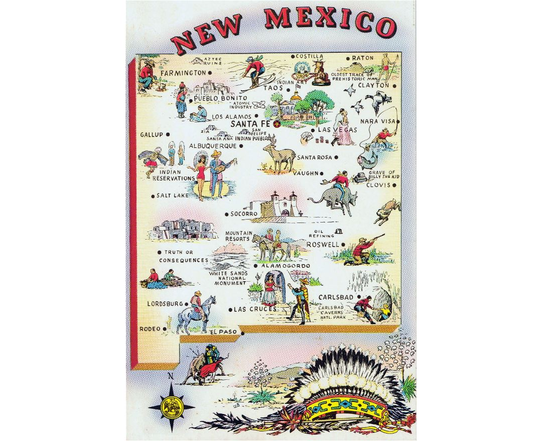 Maps Of New Mexico State Collection Of Detailed Maps Of New - Detailed map of new mexico