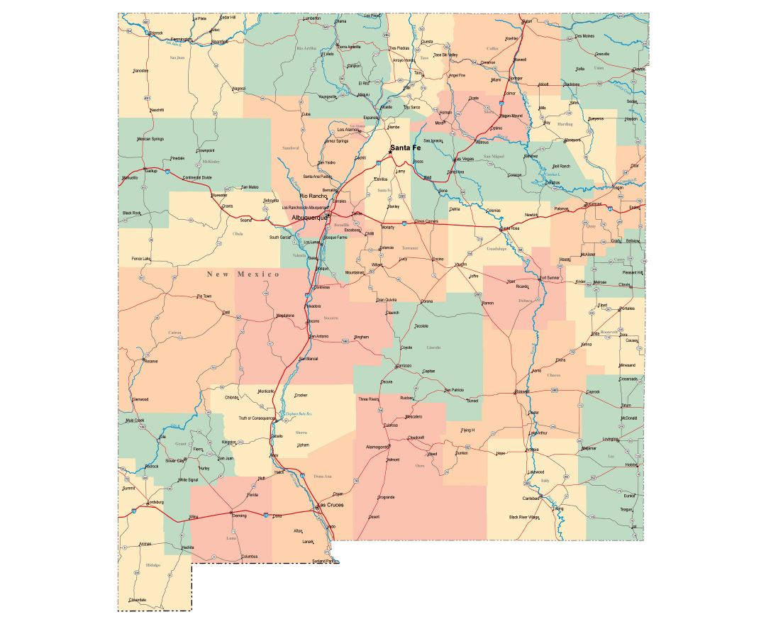Maps Of New Mexico State Collection Of Detailed Maps Of New - New mexico elevation map