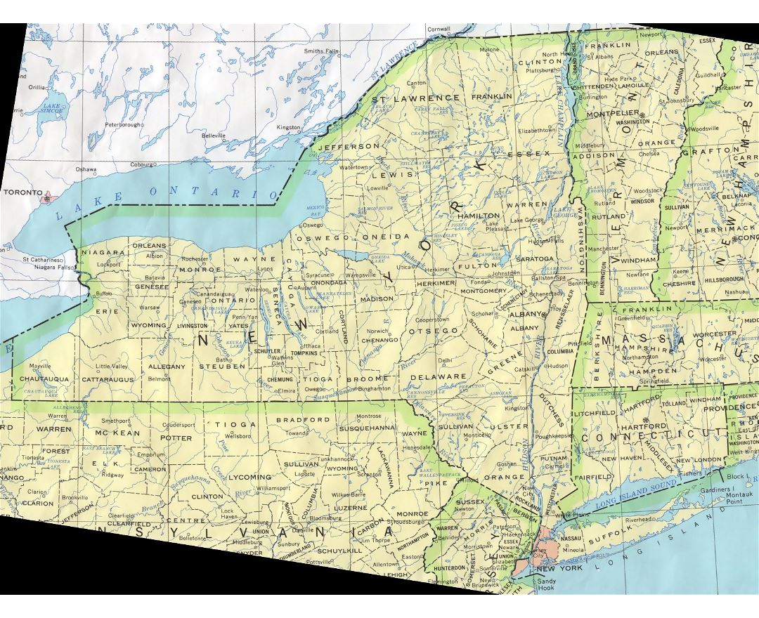Maps Of New York State Collection Of Detailed Maps Of New York - Road map of new york state