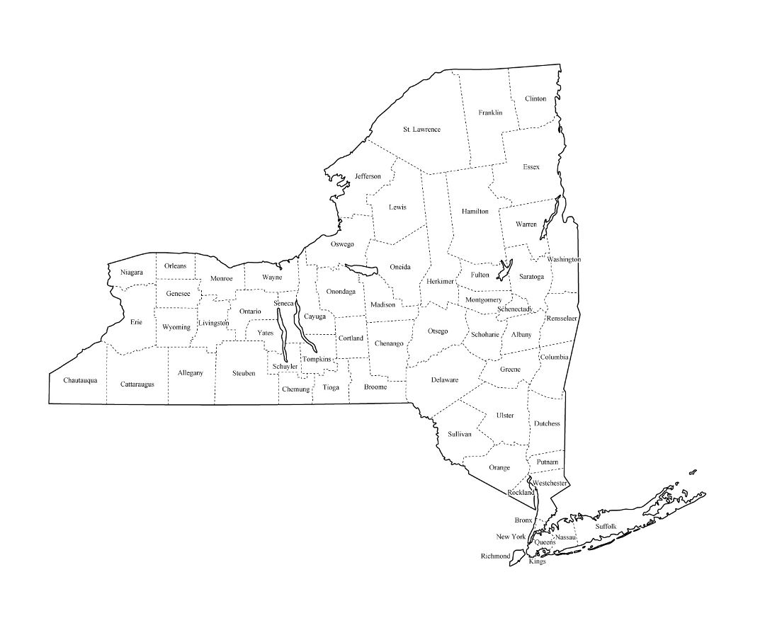 Maps Of New York State Collection Of Detailed Maps Of New York - Detailed map of new york state