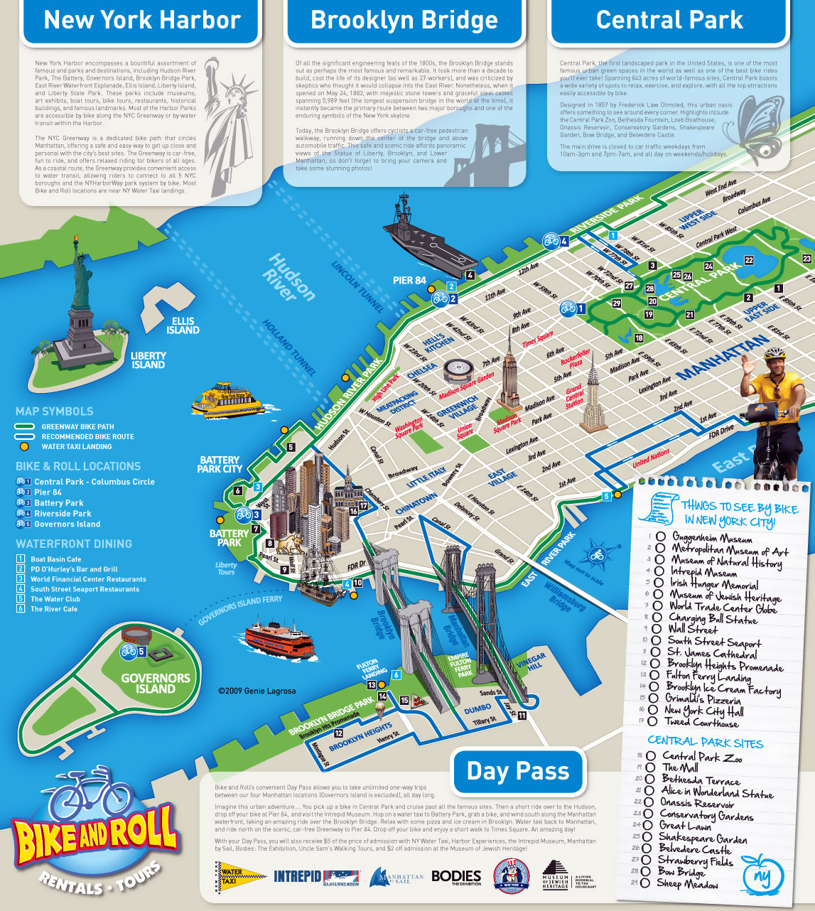 detailed alternative new york city tourist map