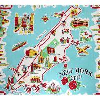 Manhattan Nyc Travel Illustrated Map New York New York
