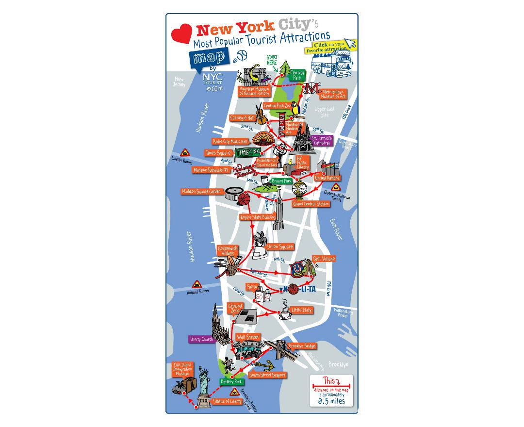 Maps of New York | Detailed map of New York city | Tourist map ...