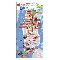 Large Detailed Printable Tourist Attractions Map Of Manhattan New