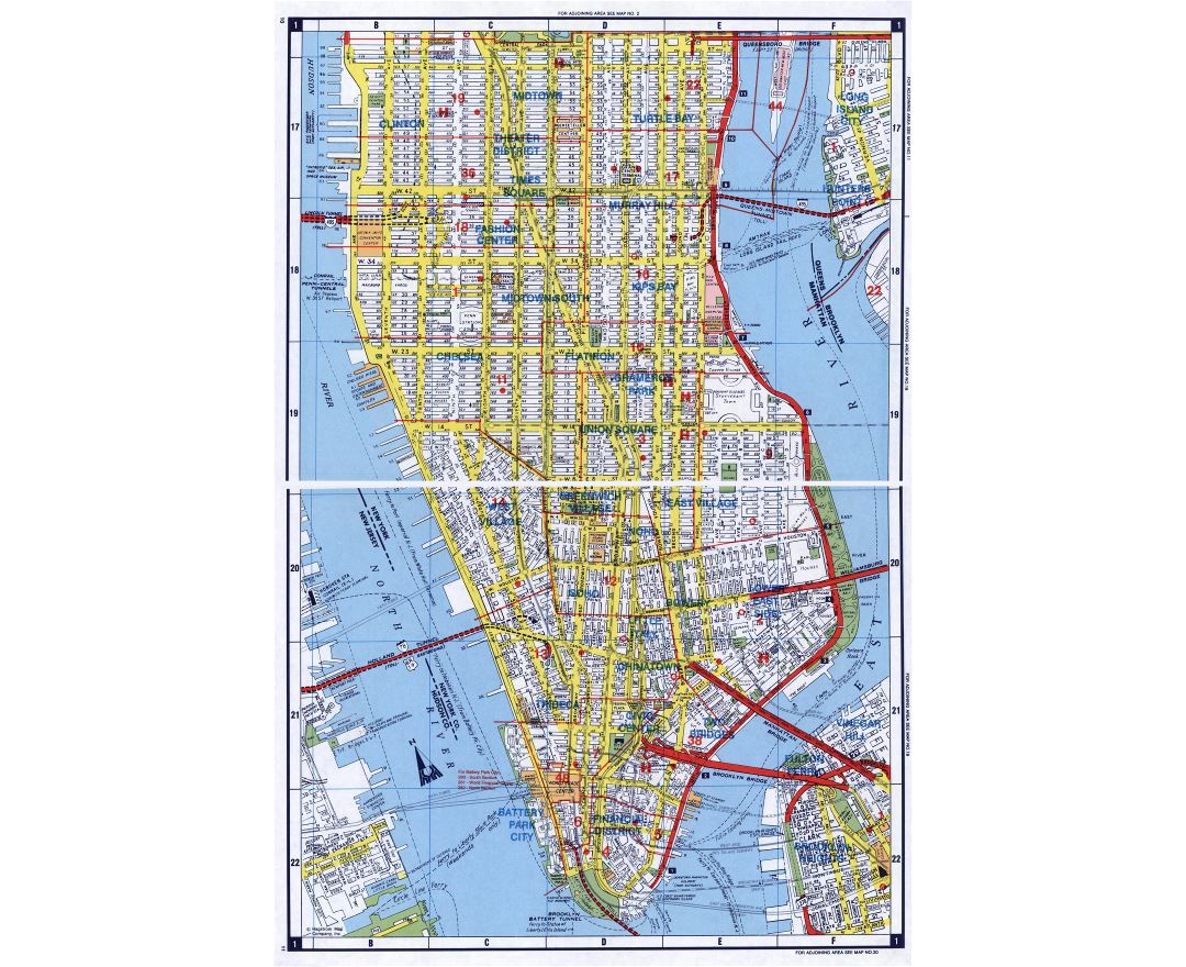 Maps Of New York Detailed Map Of New York City Tourist Map - Nyc map road