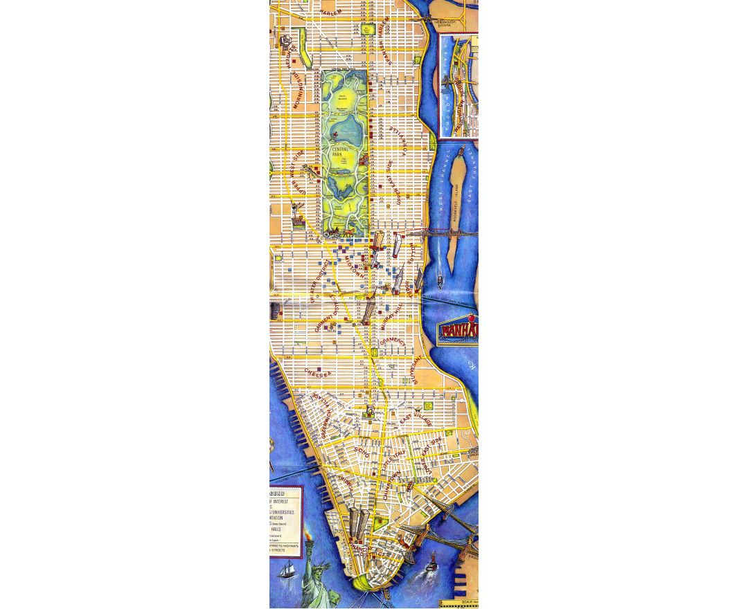 Maps of New York Detailed map