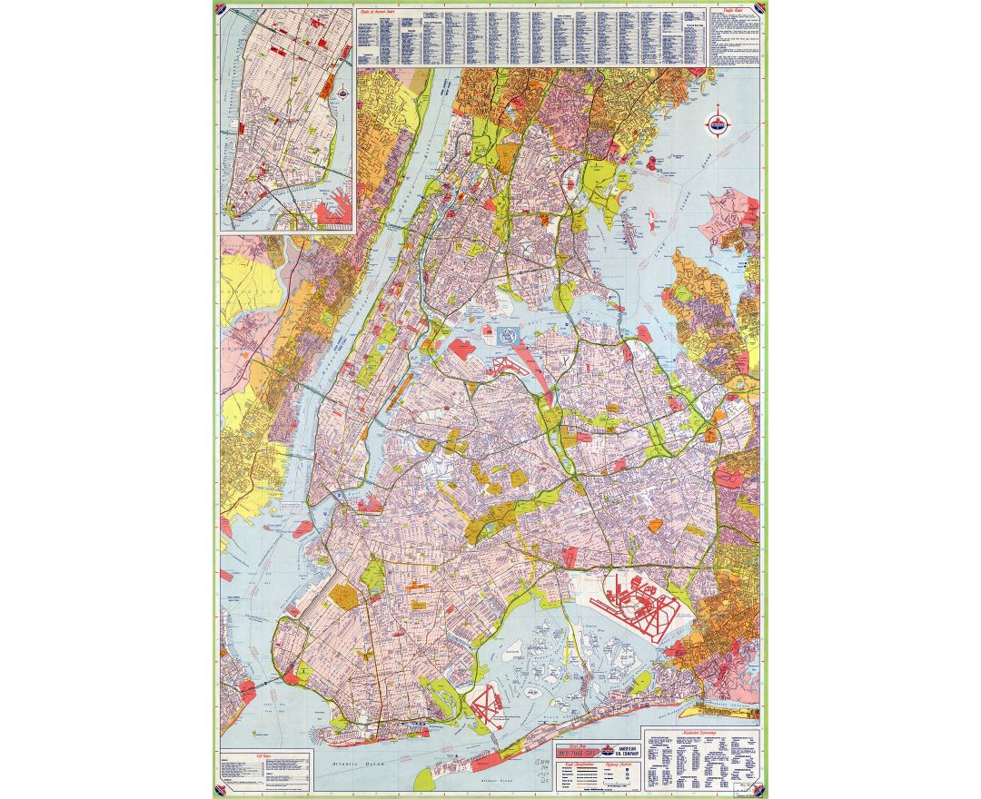 large scale hires detailed full road map of new york city usa with all
